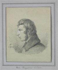 portrait des landschafts- und tiermalers ludwig kregenbrink by karl friedrich boser