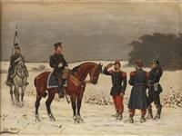 preußische soldaten im deutsch-französischen krieg by christian sell