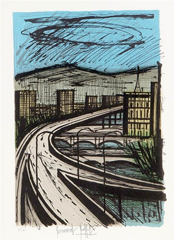 highway overpass by bernard buffet