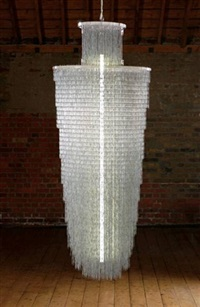 paperless chandelier sculpture by jam design & communication
