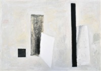 two white cards no.3 by kevin lincoln
