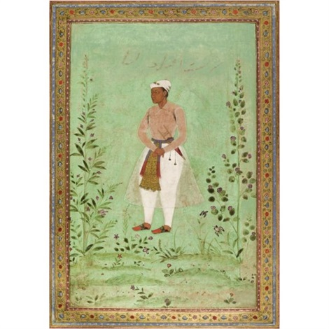 a portrait of a courtier by anonymous indian 16