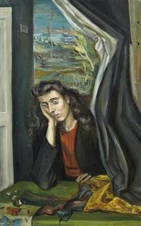 femme pensive by yvette alde