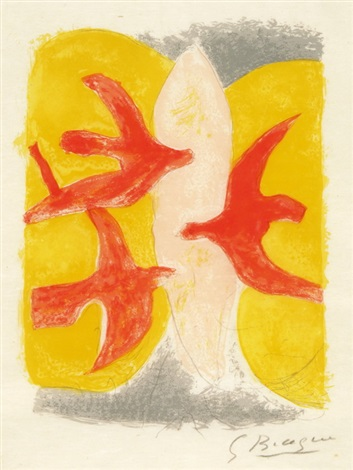 blatt aus descente aux enfers (from descente aux enfers) by georges braque
