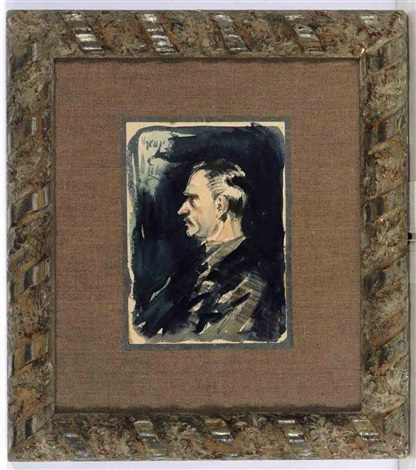 portrait of the artist arthur bowen davies by george benjamin luks