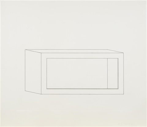 untitled pl 5 from sixteen etchings in black by donald judd
