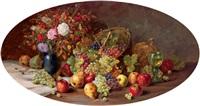 früchtestilleben mit blumenvase by alois zabehlicky