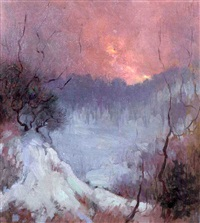 winter sunset by gladys nelson smith
