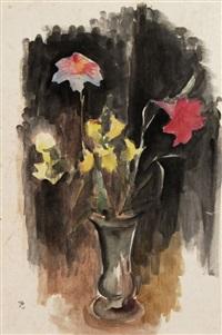 stilleben mit lilien und löwenmäulchen by johannes beutner