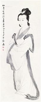 仕女图 立轴 by zhang daqian