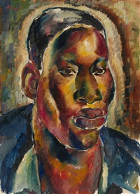 portrait of an african by georges artemov