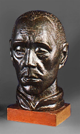 sculpted head clifford hall by arnold auerbach