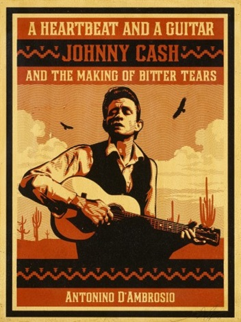 a heartbeat and a guitar johnny cash by shepard fairey