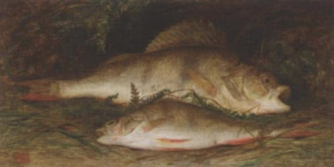 perch on a riverbank by william j webbe webb