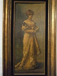 femme en jaune by eugene smits