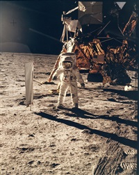 portrait of buzz aldrin on the moon, apollo 11, july 1969 by neil armstrong