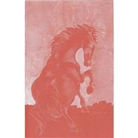sich bäumendes pferd by hans erni