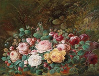 rosenstück am waldboden by theodor petter