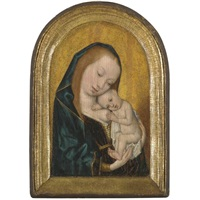 virgin and child by master of the magdalen legend