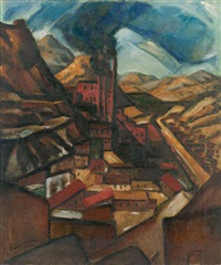 coal mine, madrid, new mexico by frank g. applegate