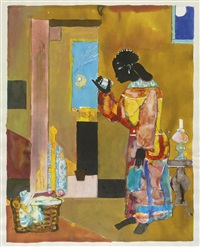 the falling star by romare bearden