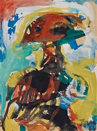 composition with figure by asger jorn
