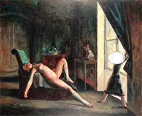 after balthus by judith simonian