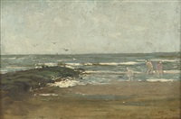paddling in the sea by willem matthijs maris