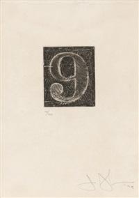 9 (universal limited art edition 165) by jasper johns