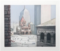 copley square, boston by richard haas