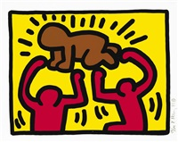 untitled (from pop shop iv) by keith haring