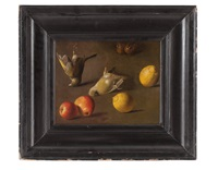 still life with birds and fruits by jan vonck