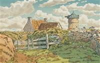 le vieux moulin à loguivy, pl.13 (from beau pays de bretagne) by henri rivière