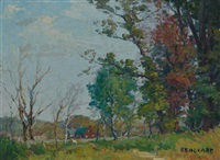 landscapes (4 works) by george a. renouard