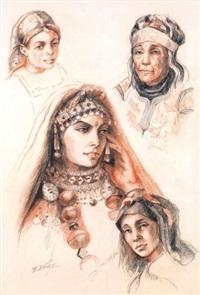 portraits de marocaines by edmond vales