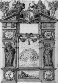 design for a title page dedicated to gilberto borromeo by angelo gallo
