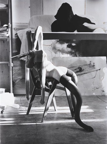 black white bunny no3 by sarah lucas
