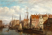 a view of amsterdam by johannes frederik hulk the elder
