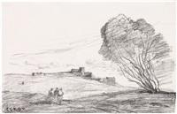 le fort detache by jean-baptiste-camille corot