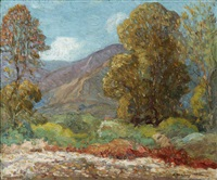 the approach of evening - monrovia, california by c. harry allis