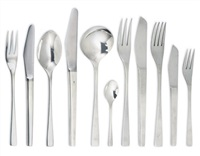 flatware service (embassy pattern; set of 88) by david mellor