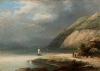 a walk along the bank of a mountain lake by cristianus hendricus de swart