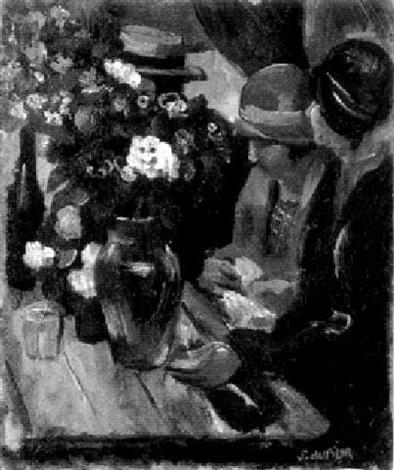 a café scene by servando del pilar
