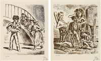 pl.1 and pl.8 (from wuthering heights) (set of 2) by balthus