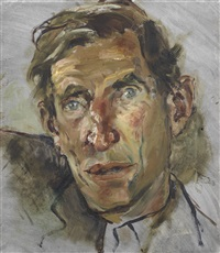 portrait of wilfred thesiger by derek hill