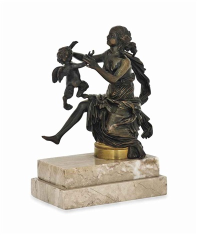 a bacchante and an infant winged satyr by pierre philippe thomire