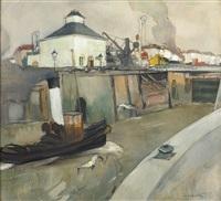 remorqueur dans le port (t eilandje) by oscar verpoorten