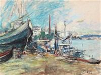 vapoare în portul tulcea by iosif rosenbluth