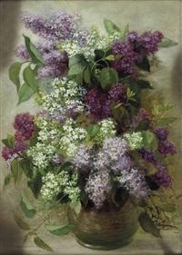 flieder in vase by carl massmann