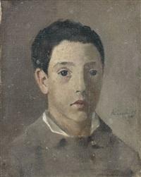 portrait de pierre laugé (fils de l'artiste) by achille laugé